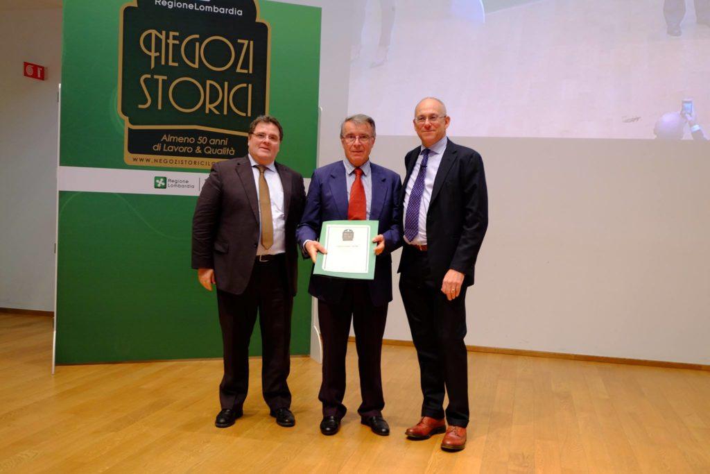 Premiazione Negozi Storci a Palazzo Regione